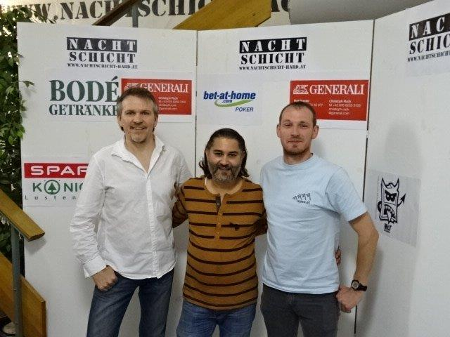 Das Siegerfoto (v.l.n.r.): Charlie Moosmann, Milos Andjelkovic, Daniel Bodé