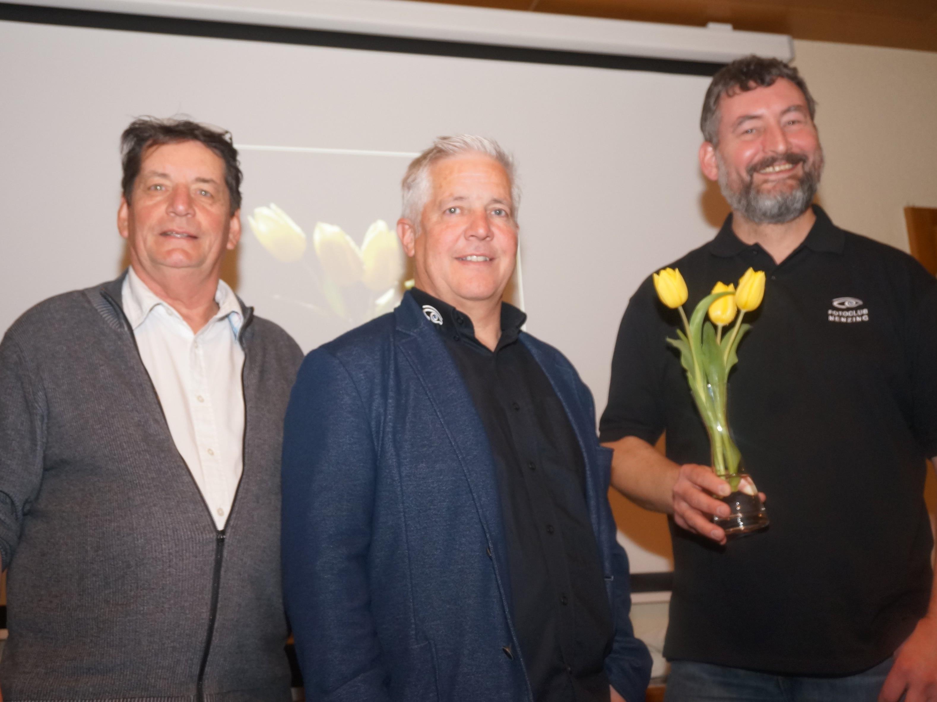 v. l.  Ernst Lampert, Reinhard Beck, Rainer Primosch