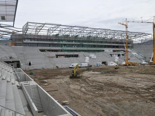 Die Bauarbeiten am Allianz Stadion gehen in die finale Phase.