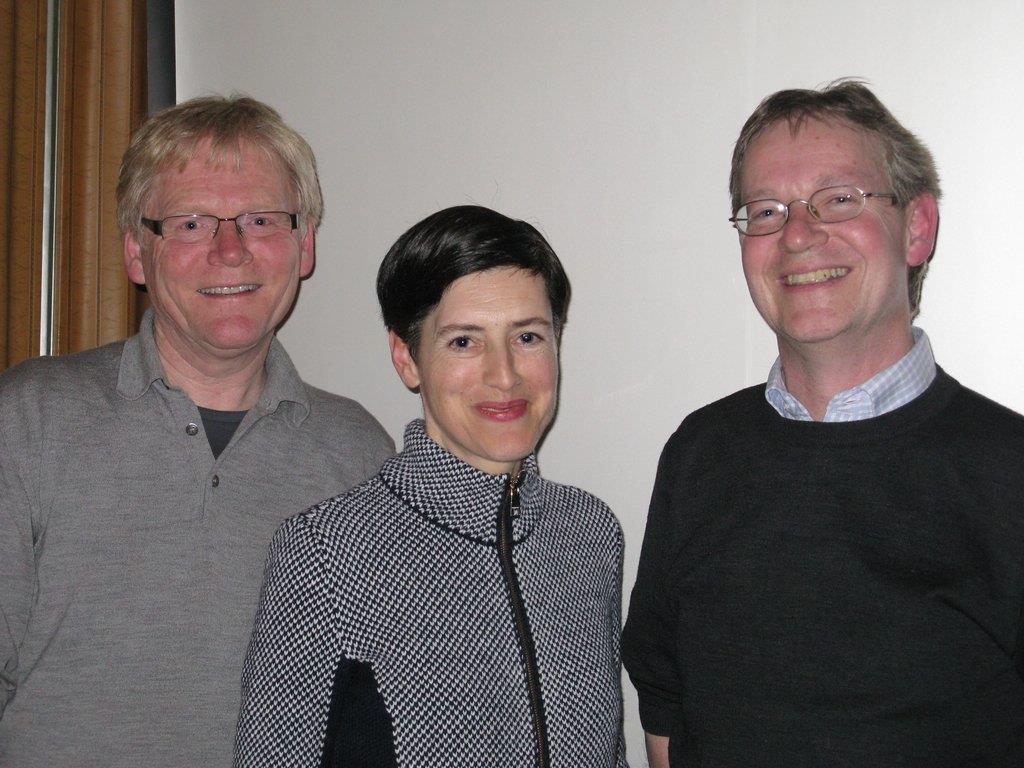 Obmann Helmut Schlatter, Schriftführerin Monika Kühne und Kassier Thomas Welte bilden den neuen Vorstand.