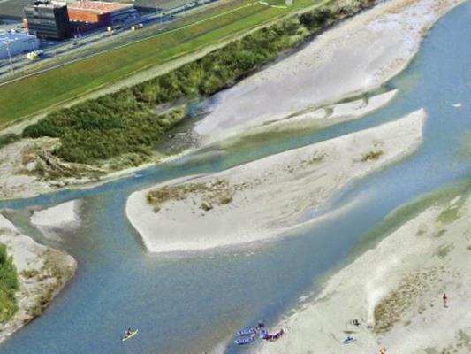 So oder so ähnlich könnte das Rheinufer in Zukunft aussehen