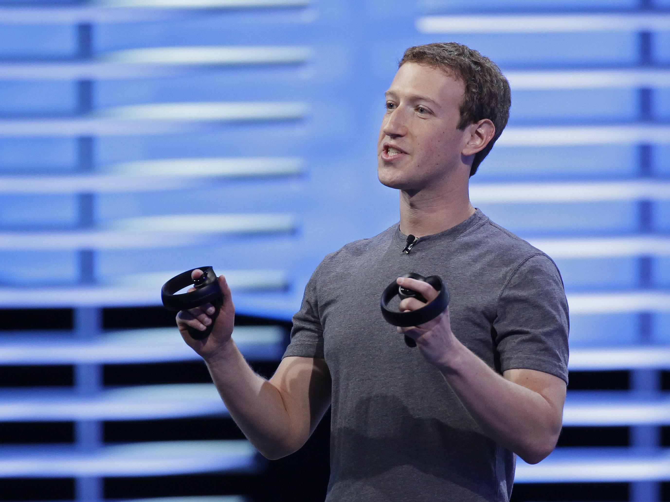Mark Zuckerburg präsentier auf der Keynote in San Francisco die Zukunft von Facebook.