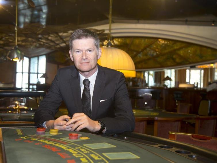 Casino-Direktor Bernhard Moosbrugger freut sich über ein erfolgreiches Geschäftsjahr