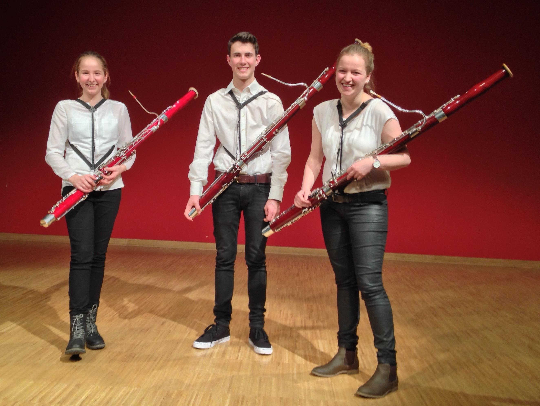 Talentierter Nachwuchs: Raphaela Robosch, Philipp Wolf und Anja Niederwolfsgruber.