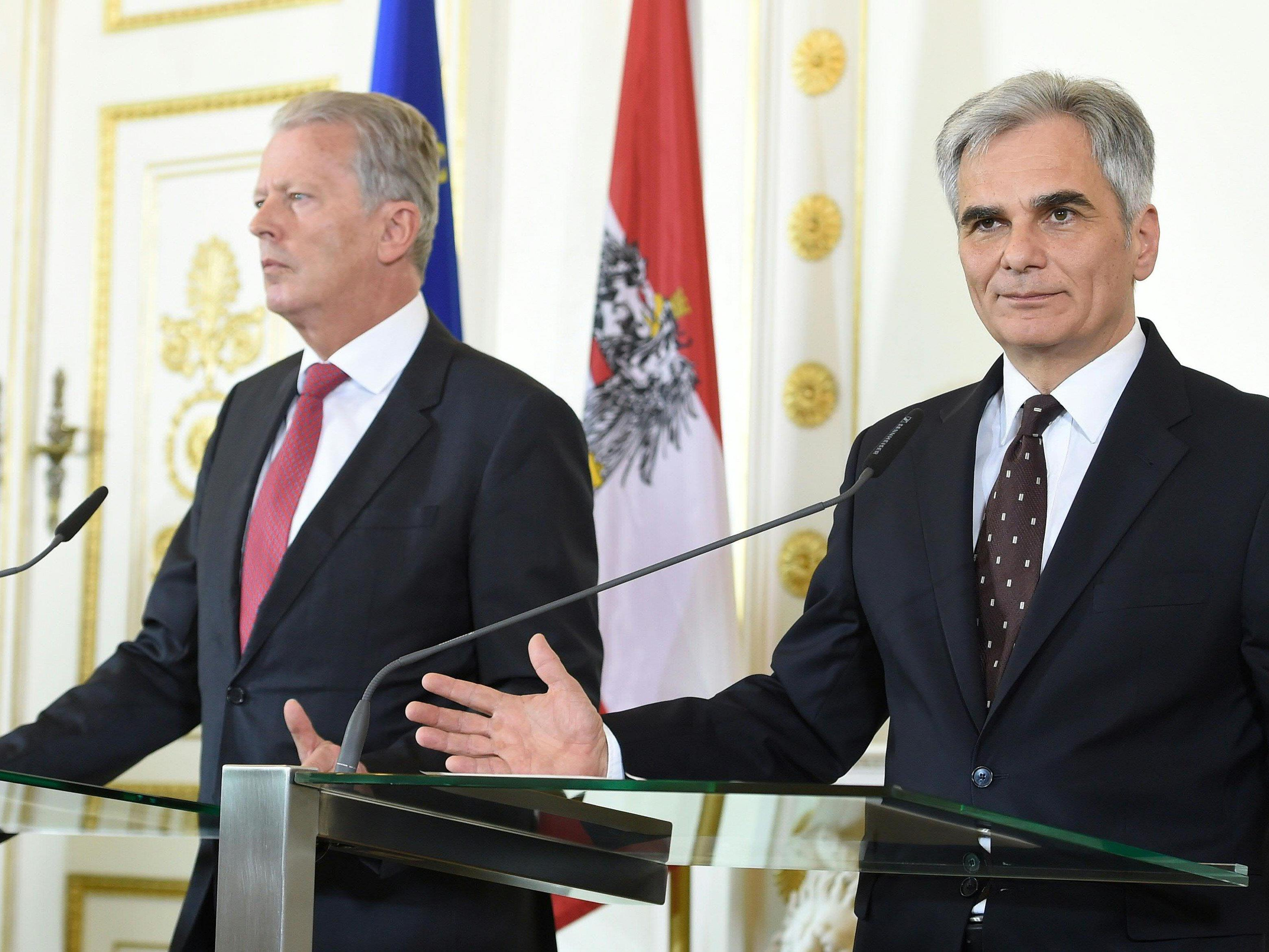 Faymann und Mitterlehner nehmen kolportierte Pläne der EU-Kommission offen auf