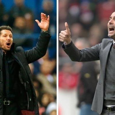 Auch ein interessantes Duell auf der Trainerbank: Diego Simeone vs. Pep Guardiola.
