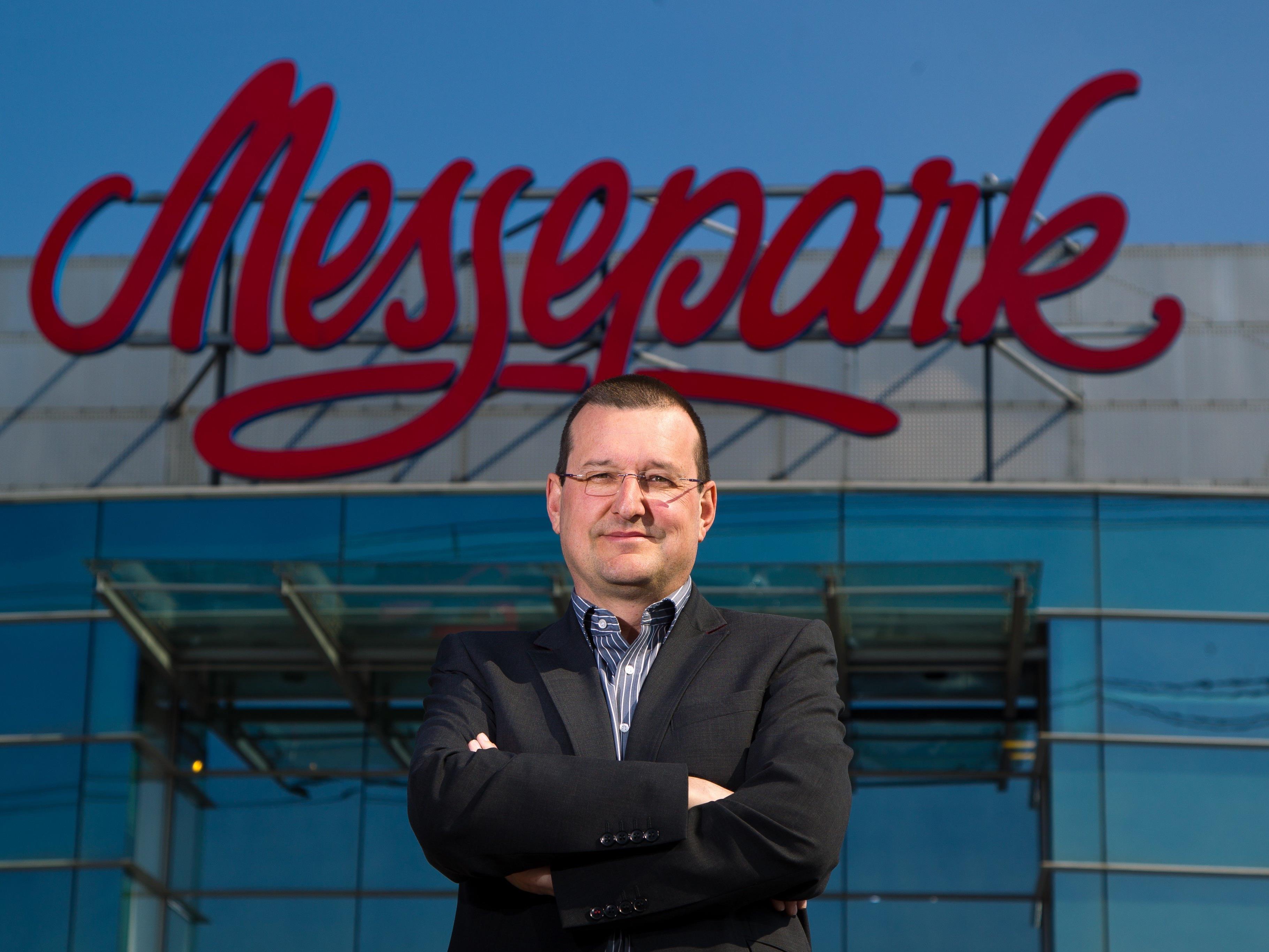 Messepark-Geschäftsführer Burkhard Dünser hat gut lachen.
