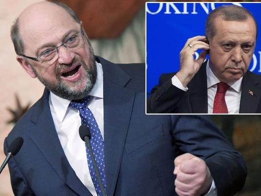 EU-Parlamentspräsident Martin Schulz schickt deutliche Worte in Richtung Erdogan.