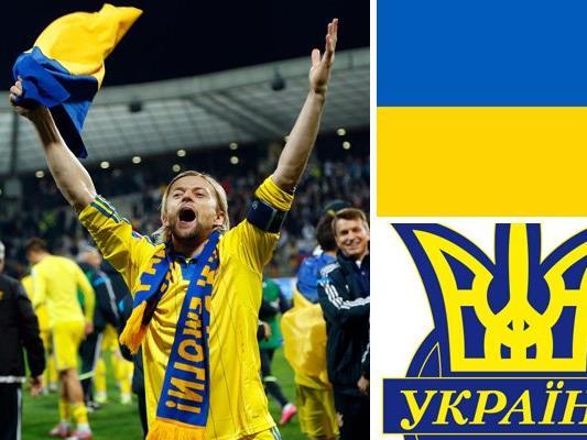 Kader und Teamportrait der ukrainischen Nationalmannschaft.
