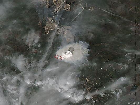 Waldbrände vom Satelliten aus zu sehen