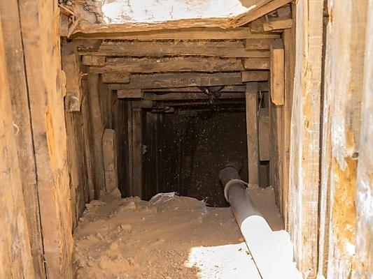 Ein Tunnel von Gaza Richtung Israel