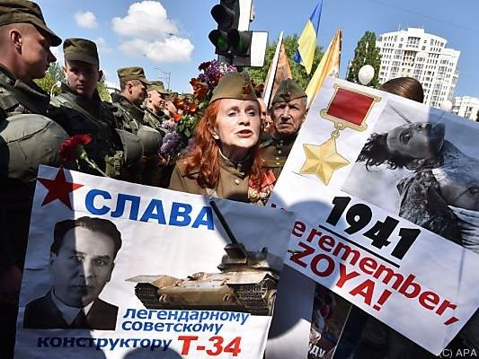 In Kiew gedachte man dem Kriegsende
