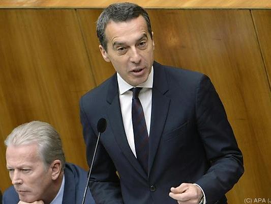 Der neue Bundeskanzler gab seine Regierungserklärung ab