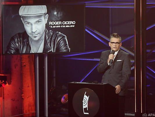 Posthume Auszeichnung für kürzlich verstorbenen Sänger Roger Cicero