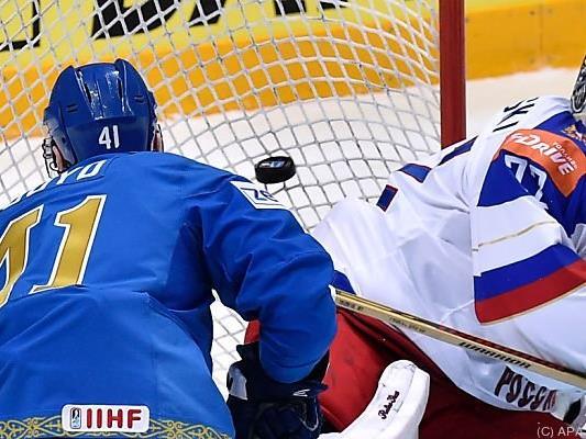 Russen taten sich gegen Kasachstan schwer
