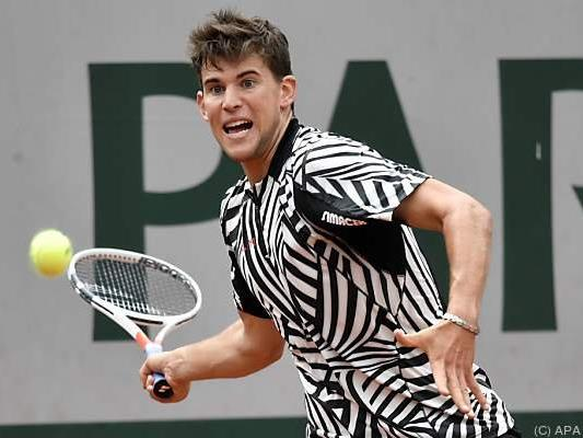 Dominic Thiem auch im Zebra-Look erfolgreich