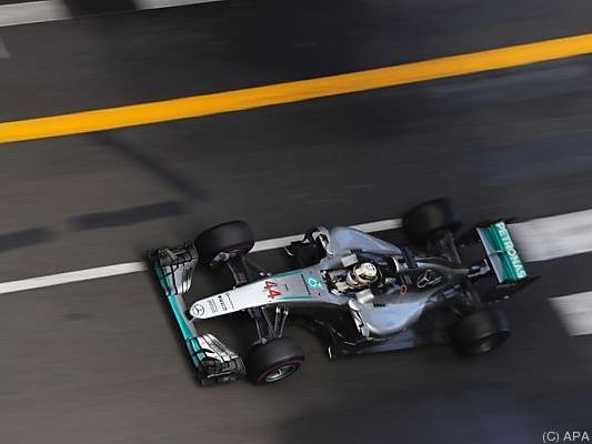 Als erster im Ziel war Lewis Hamilton