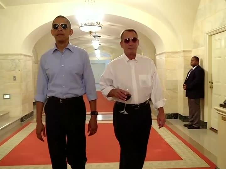 Barack Obama kann auch über sich selbst lachen.