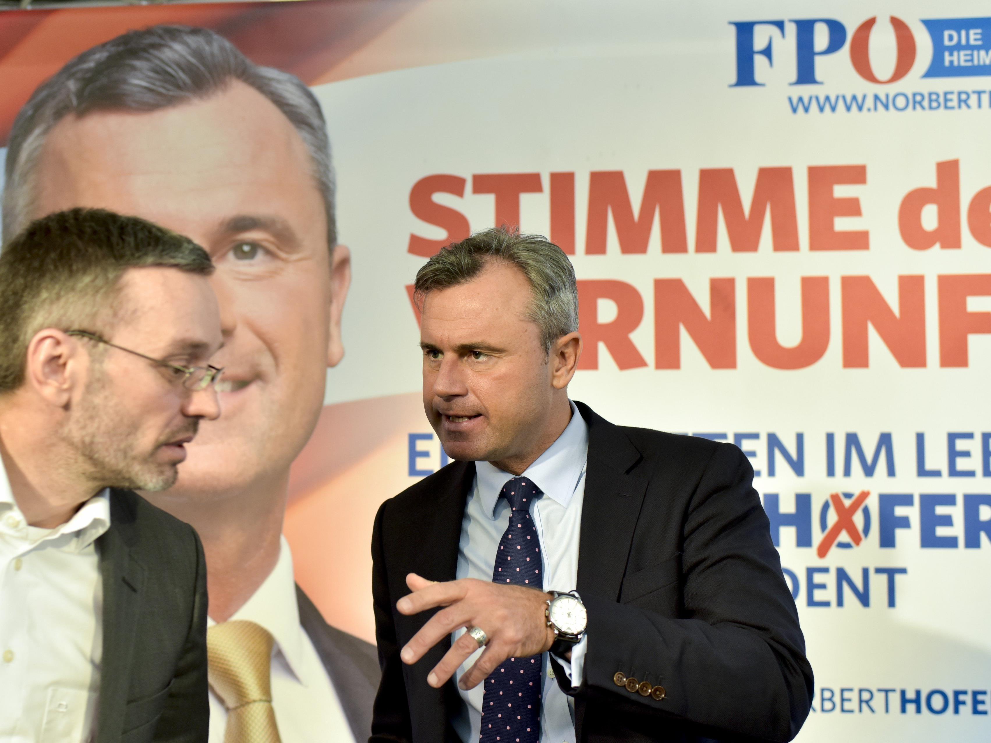 Hofer appelliert an bürgerliche Griss-Wähler.