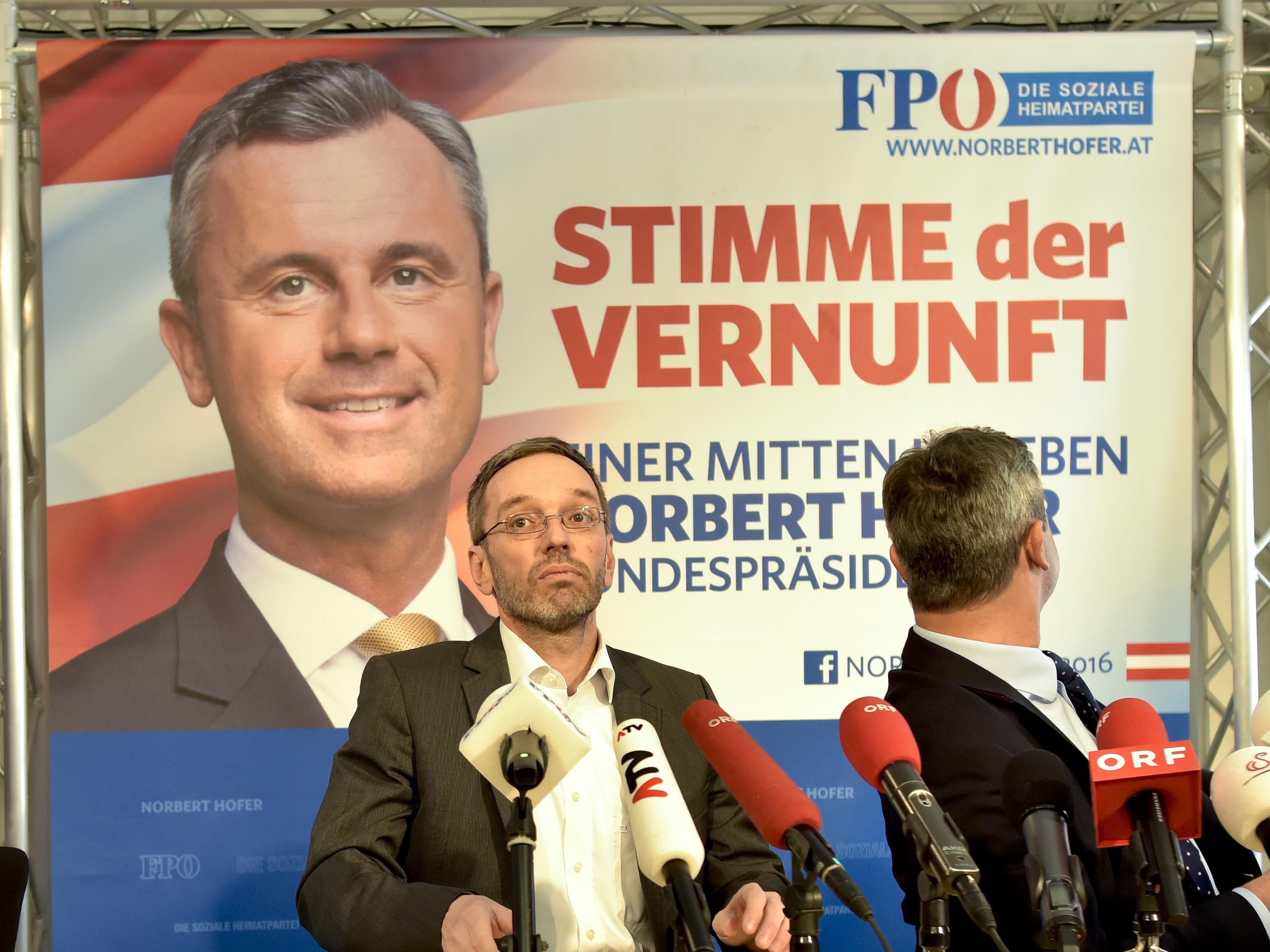"FPÖ-Generalsekretär Kickl inszeniert Hofburg-Kandidat Hofer als ""Stimme der Vernunft""."