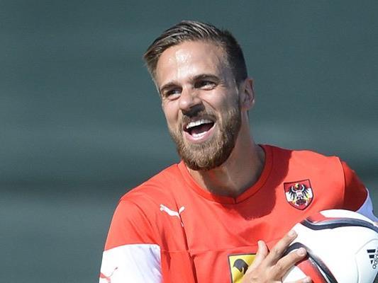 Martin Harnik kommt stets mit einem Lächeln zum Nationalteam.