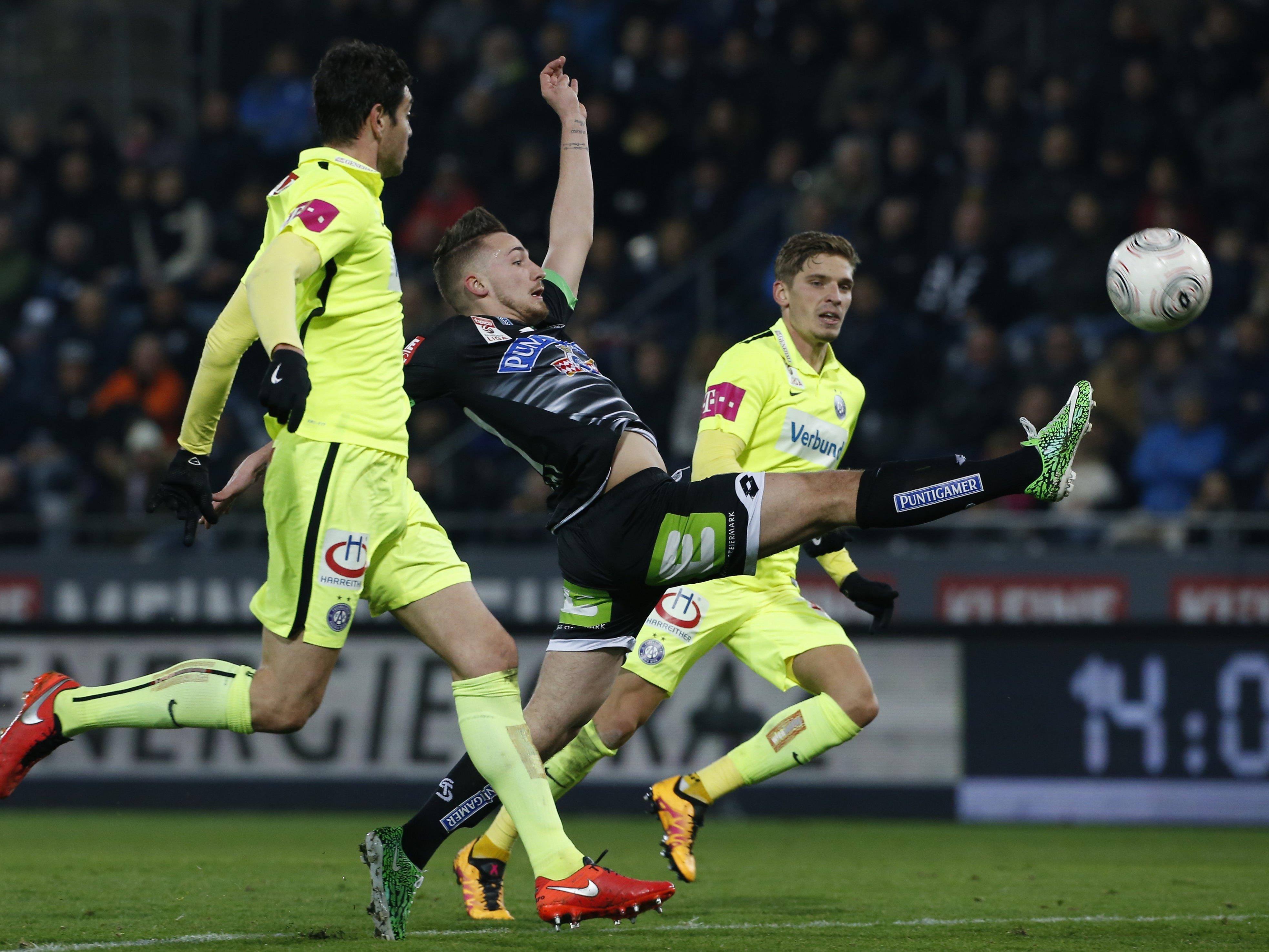 Die Austria spielt in der letzten Runde gegen Sturm Graz.