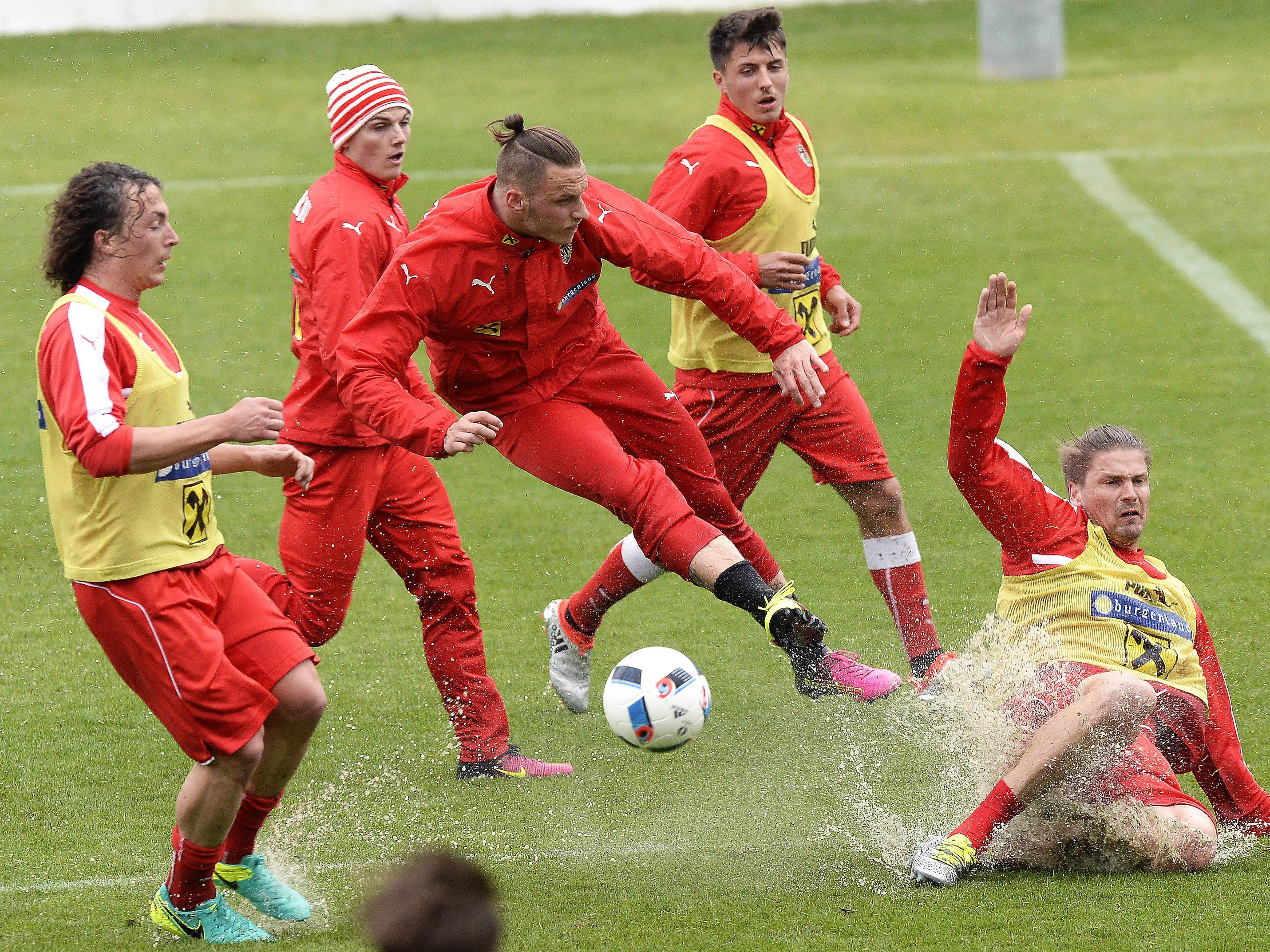 Das ÖFB-Team bereitet sich in der Schweiz auf die EURO 2016 vor.