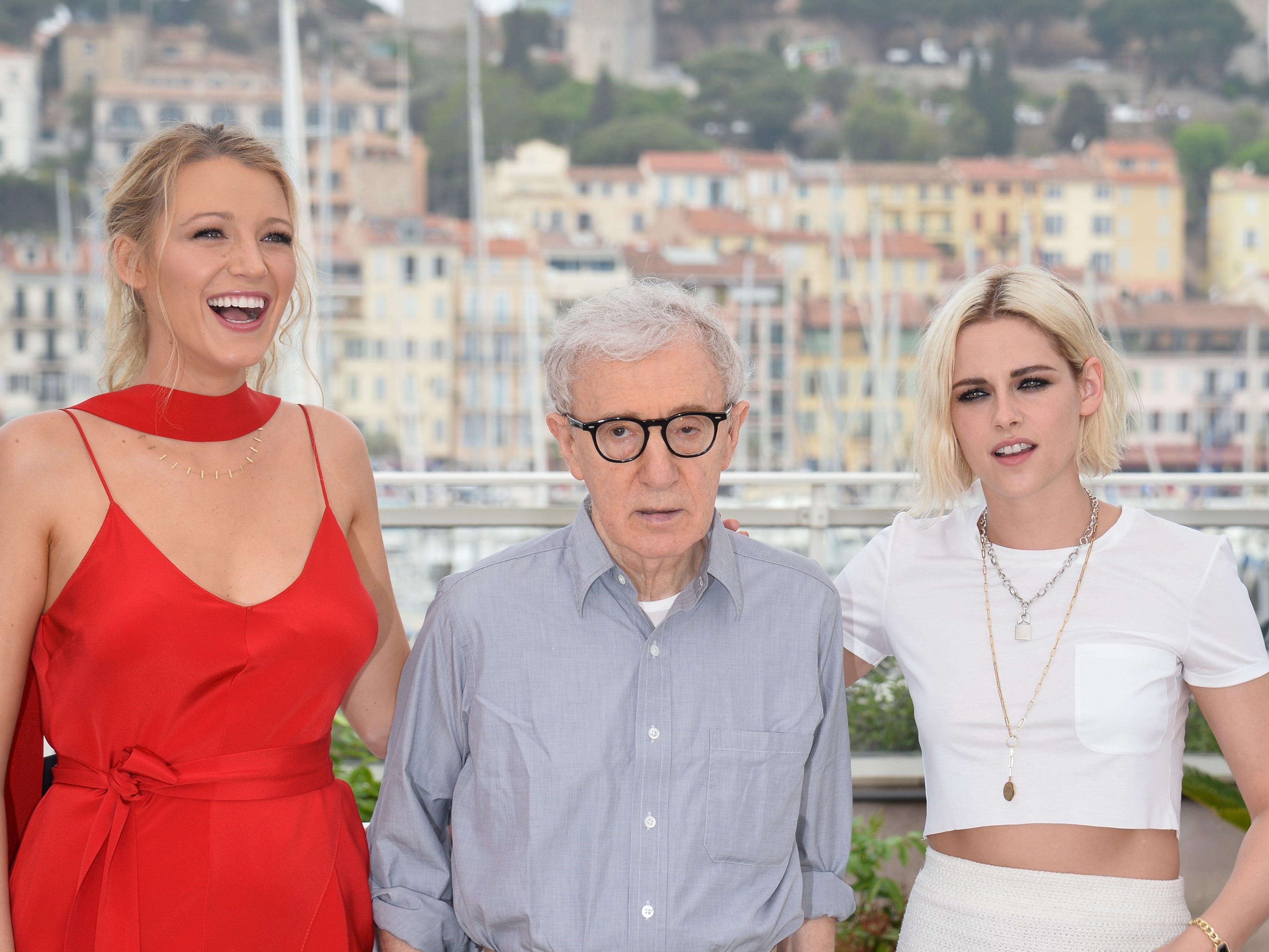 Blake Lively mit Woody Allen und Kristen Stewart in Cannes bei den 69. Filmfestspielen.
