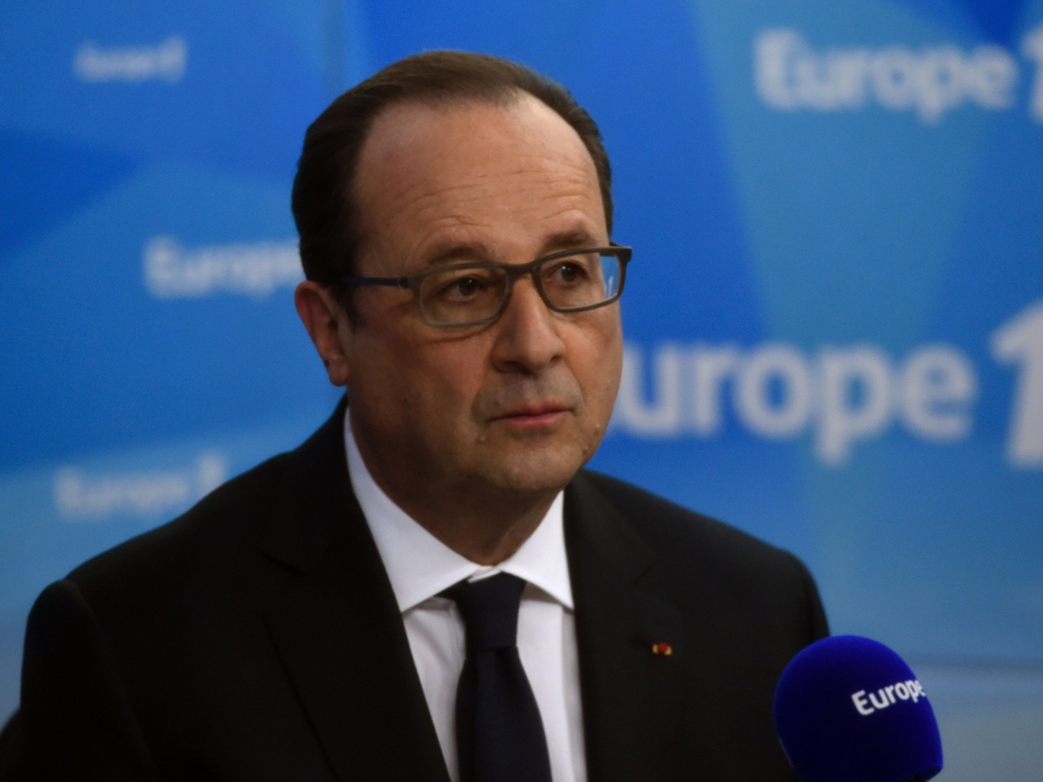 Frankreichs Präsident Francois Holland am Dienstag in einem Interview mit dem Radiosender Europe 1.