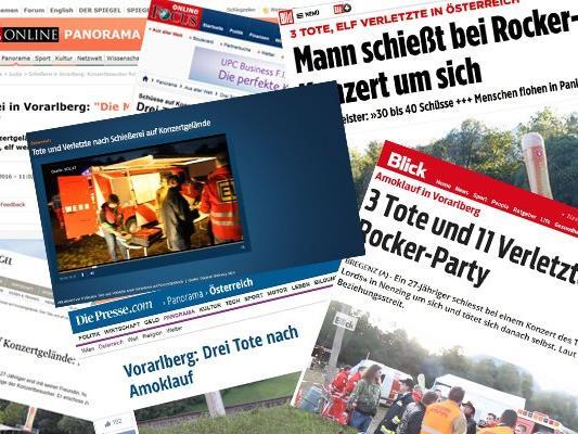 Die internationale Presse berichtet über den Amoklauf in Nenzing.