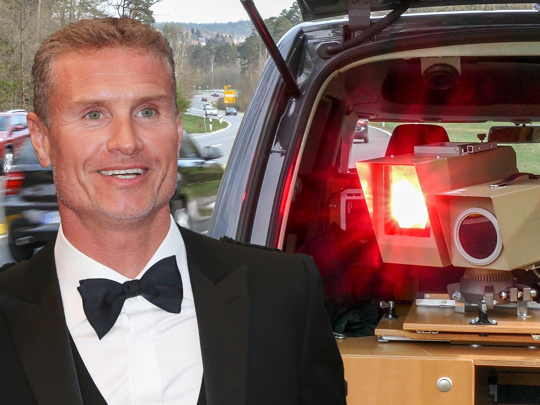 Ex-Rennfahrer David Coulthard wurde bei einer Straßenrallye geblitzt.