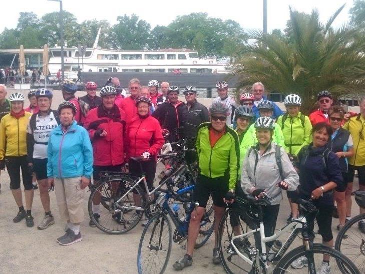Radteam per pedales auf dem Weg nach Wangen