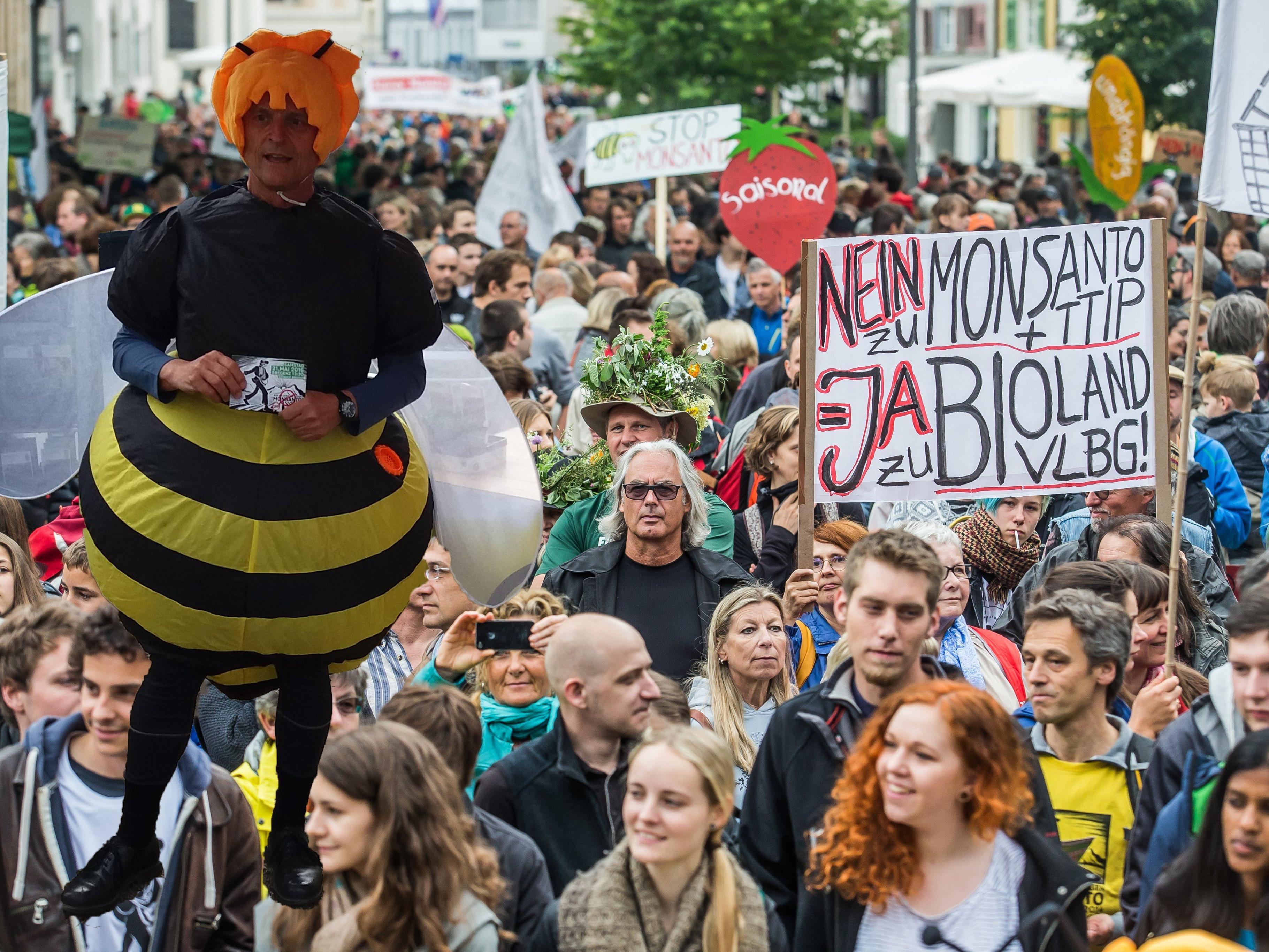 In Bregenz wird heute, Samstag gegen TTIP und Monsanto demonstriert.