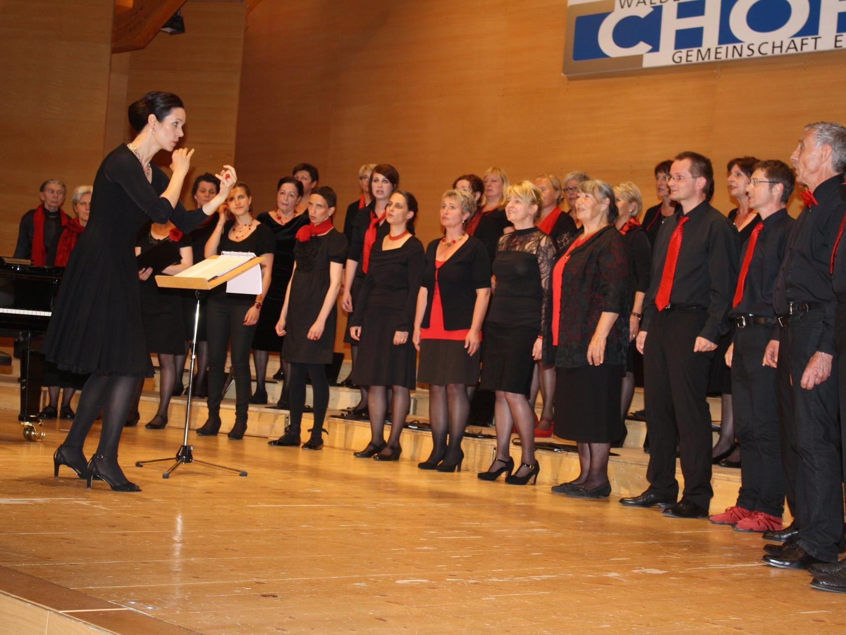 Die Sängerinnen und Sänger freuen sich auf viele Besucher bei den Konzerten.