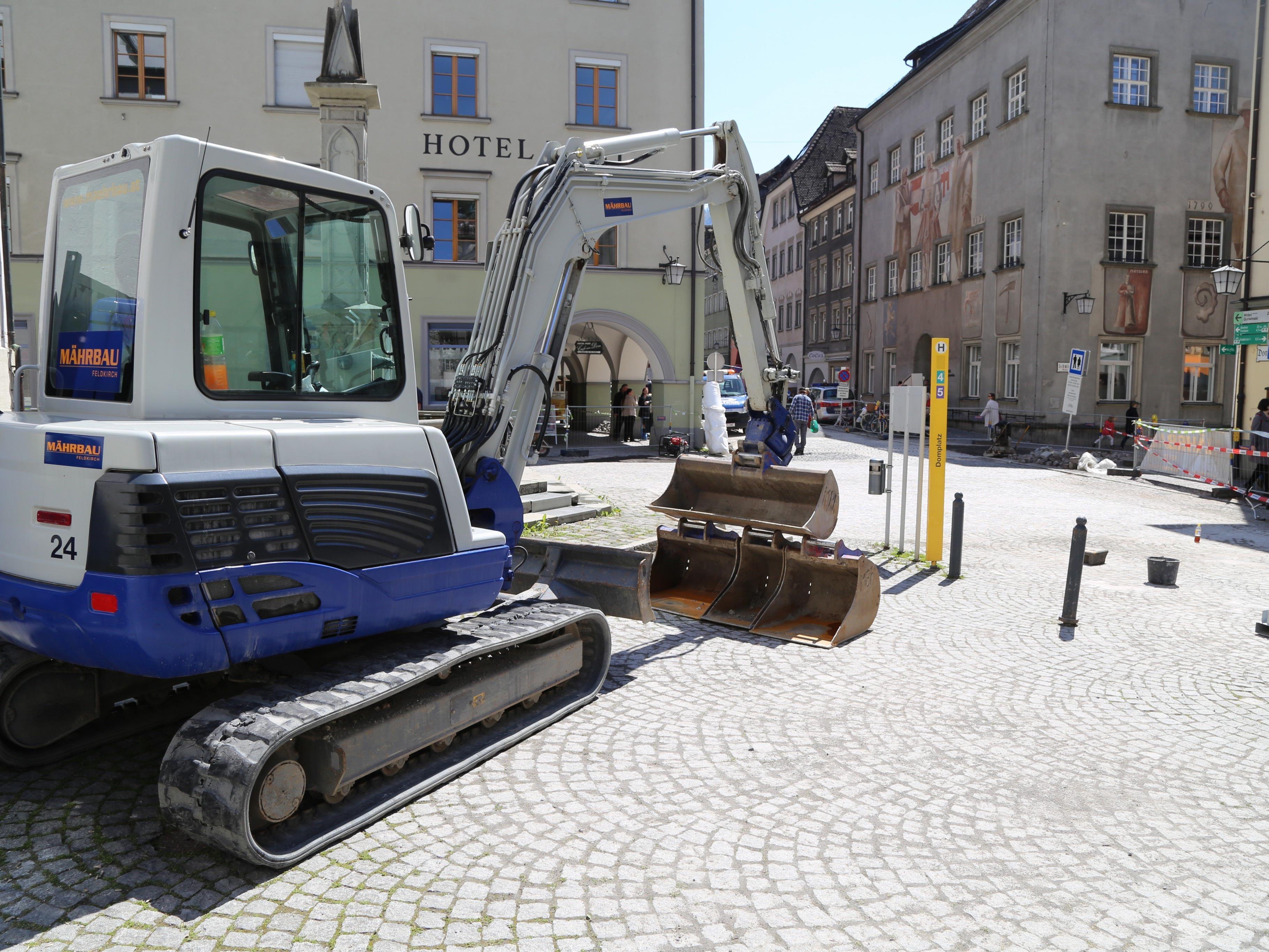 Die letzten Arbeiten am Domplatz wurden abgeschlossen.