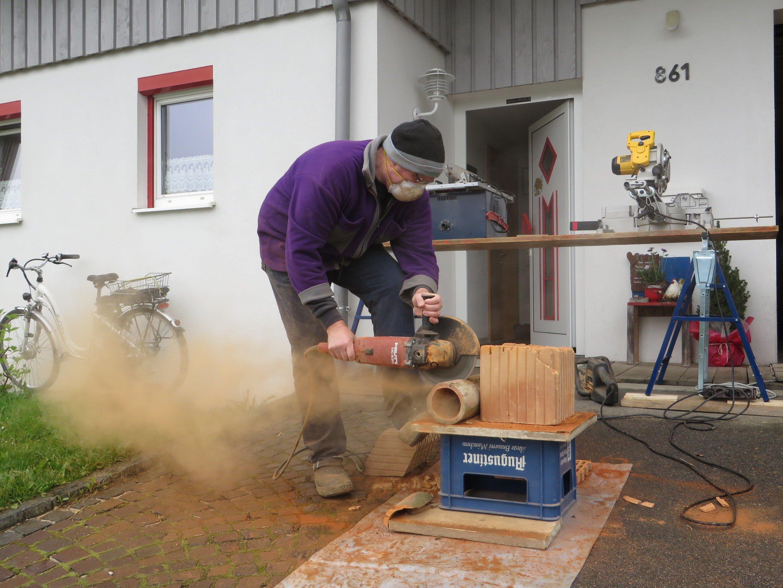 Bau von Insektenhotels in Müselbach