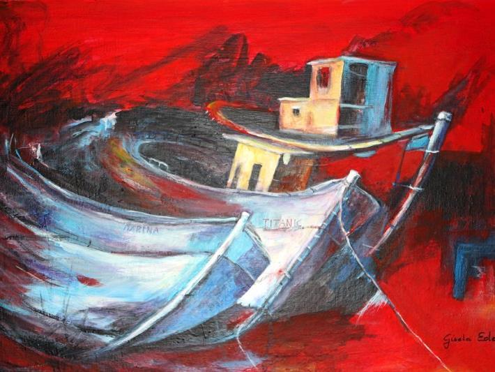 Die Kunstwerke von Gisela Eder zeichnen sich durch ihre frohen und kräftigen Farben aus.