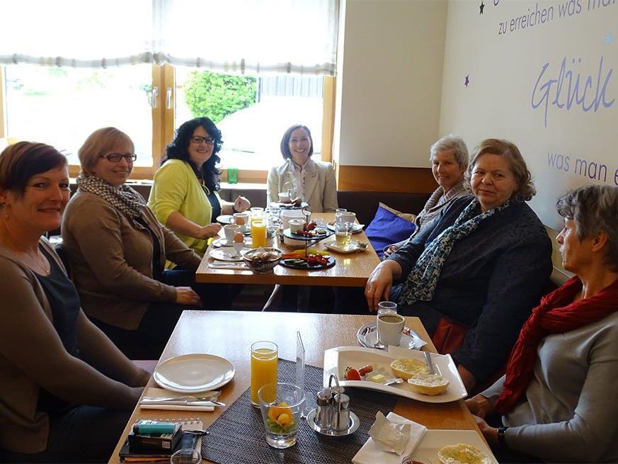 Beim Themenfrühstück im Café Grubwieser gab es viele Fragen.