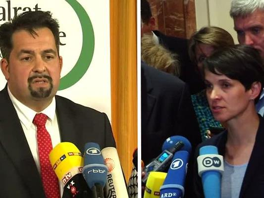 Aiman Mazyek (ZMD) und Frauke Petry (AfD).