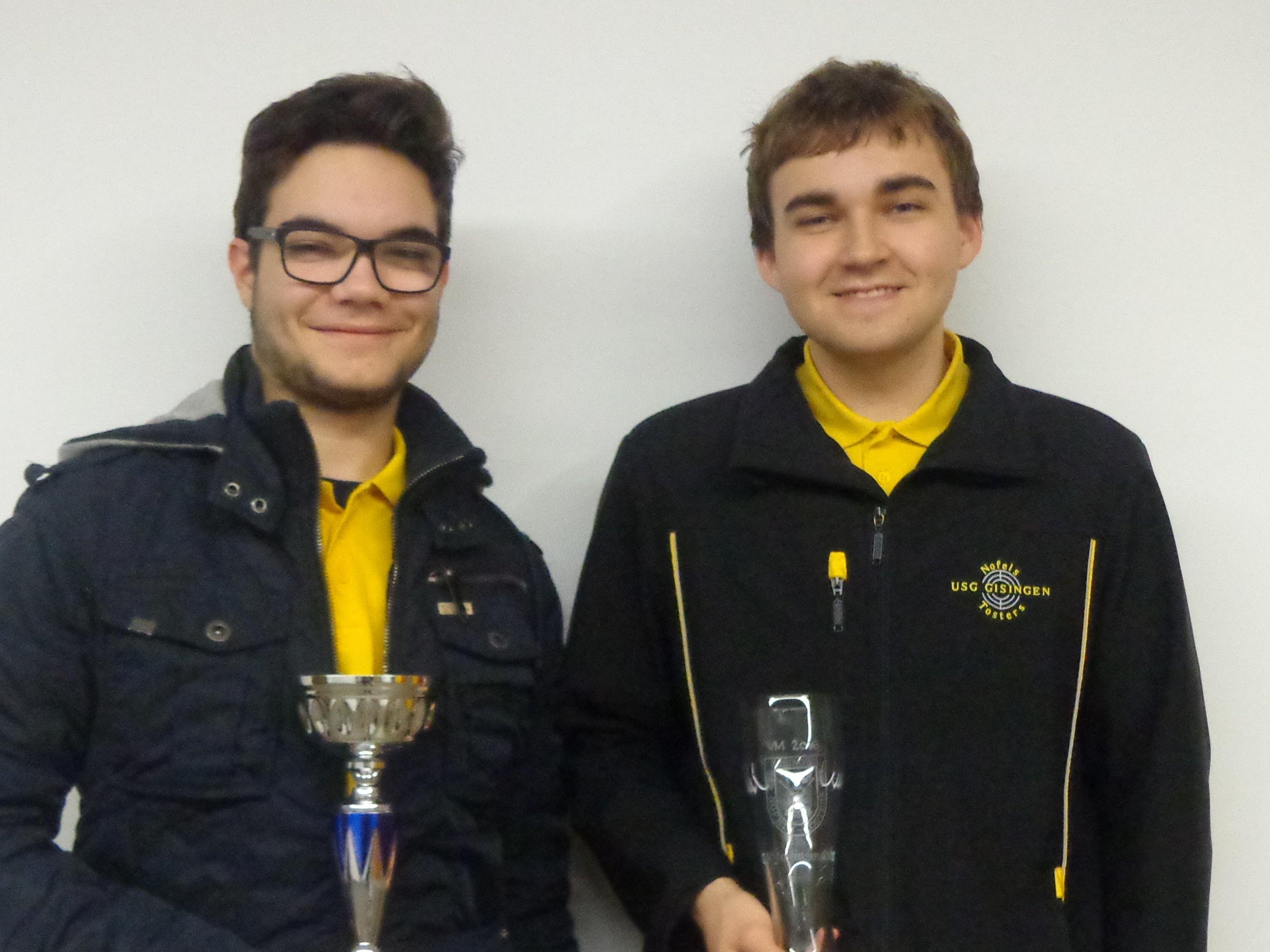 Sieger ihrer Klasse: Angelo Bolter und Jakob Wilhelm