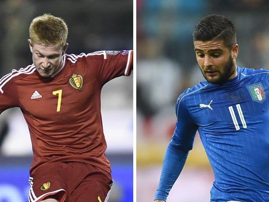 Belgien trifft in Runde eins der EM-Gruppe E auf Italien.