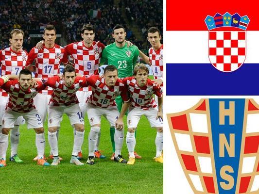 Kader und Kader und Teamportrait der kroatischen Nationalmannschaft.d Teamportrait der spanischen Nationalmannschaft.