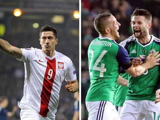 Polen trifft in Runde eins der EM-Gruppe C auf Nordirland.