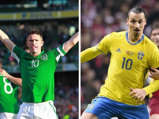 Irland trifft in Runde eins der EM-Gruppe E auf Schweden.