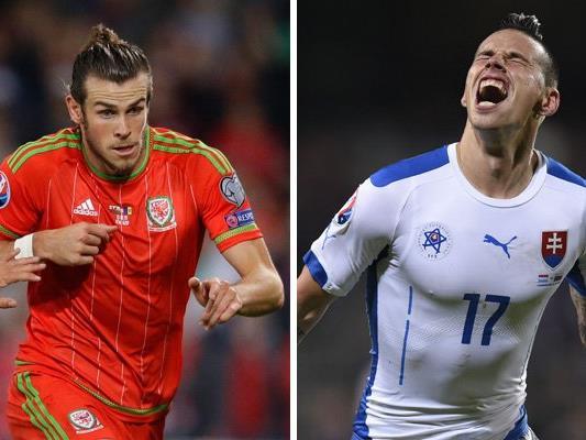 Wales trifft in Runde eins der EM-Gruppe B auf die Slowakei.