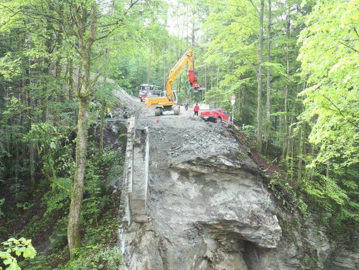 ausende Kubikmeter Gestein stürzten in die Tiefe