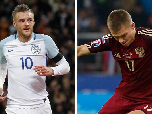 England trifft in Runde eins der EM-Gruppe B auf Russland.