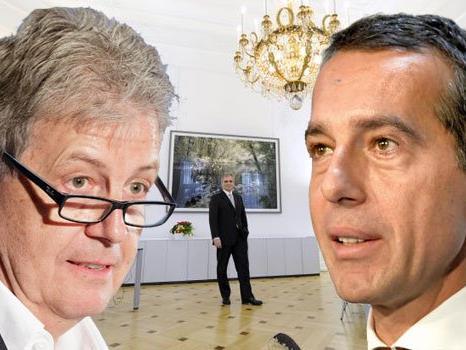 Gerhard Zeiler und Christian Kern gelten als Favoriten für den SPÖ-Vorsitz