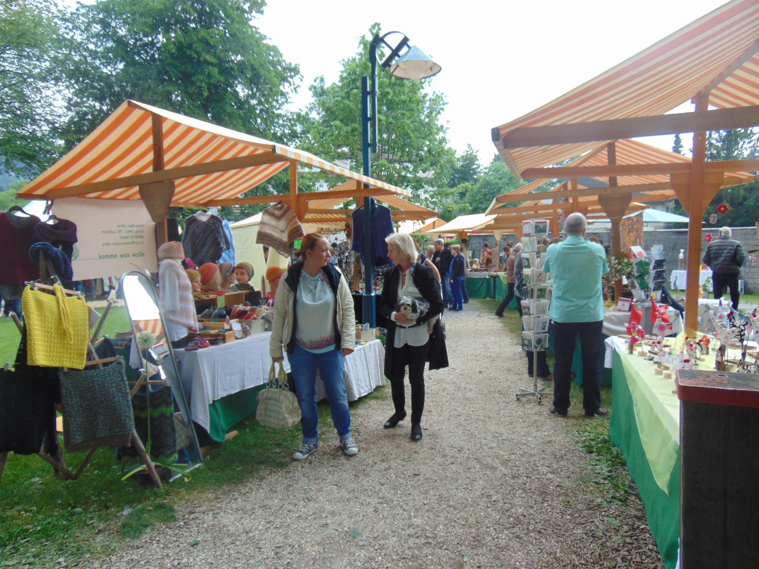 Der Markt am Dorfplatz bietet auch in diesem Jahr originelles Kunsthandwerk