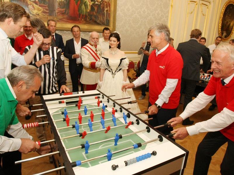 Die Wuzel-Party des ungarischen Tourismusamtes.